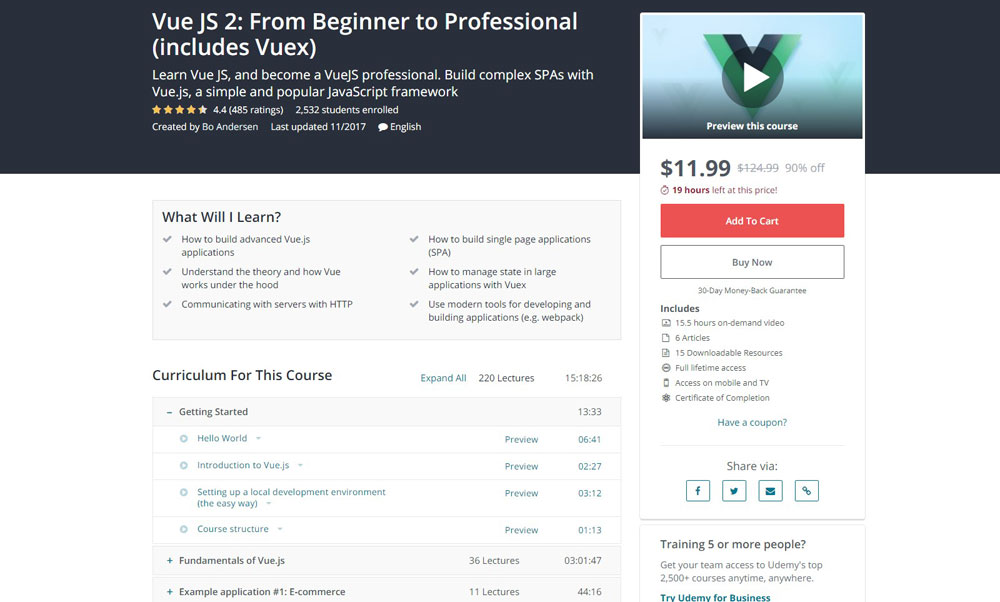 Vue JS 2: From Beginner to Professional (includes Vuex)