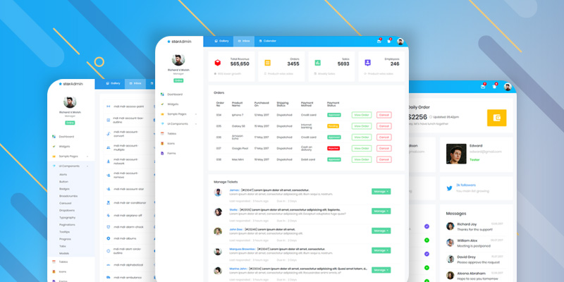 Star Admin Vue.js Free Dashboard Template